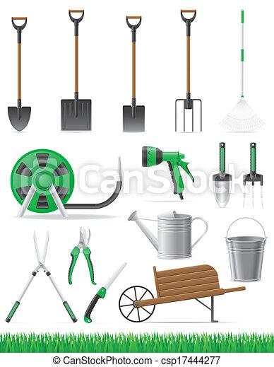 attrezzo, vettore, set, giardino, illustrazione - csp17444277