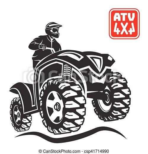 ATV All-terrain vehicle off-road design elements. - csp41714990