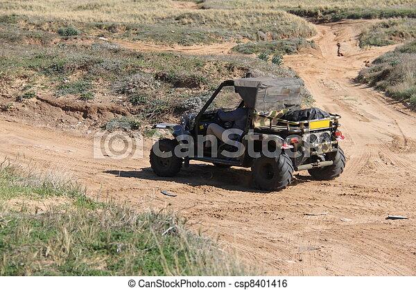 Gran ATV en el campo - csp8401416