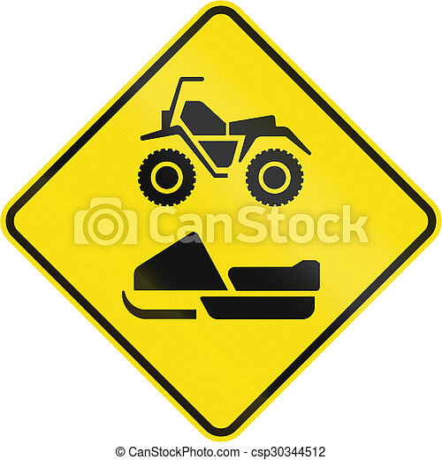 ATVs And Snowmobiles In Canada - csp30344512