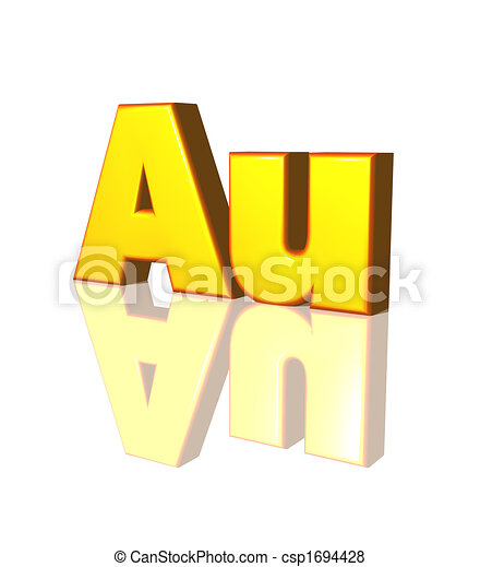 Au Gold The Chemical Symbol For Gold 3d Illustration