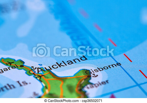 New Zealand On The Map.Auckland In New Zealand On The Map