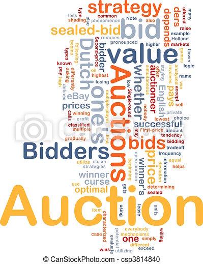 Auction background concept - csp3814840