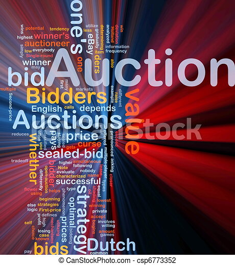 Auction background concept glowing - csp6773352