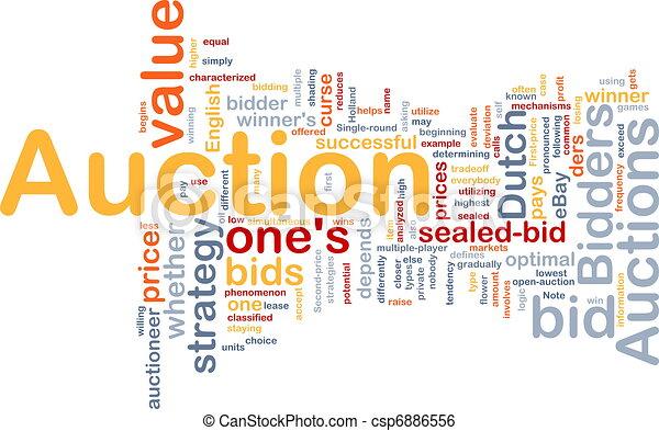 Auction background concept - csp6886556