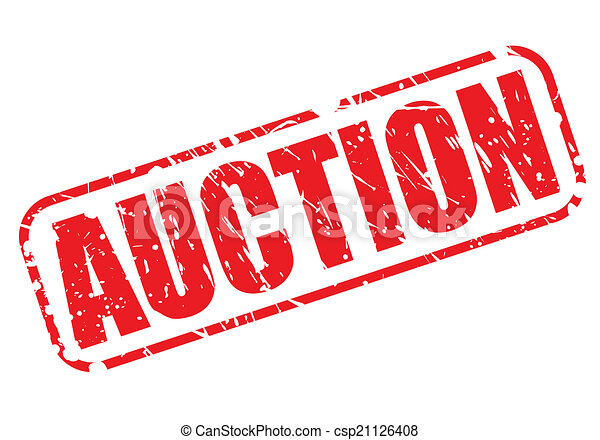 AUCTION red stamp text - csp21126408