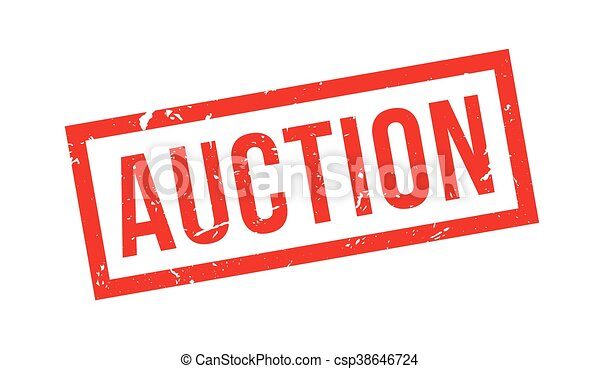 Auction rubber stamp - csp38646724