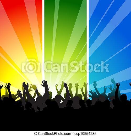 audiência, concerto - csp10854835