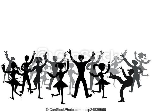 Disco audienc - csp24839566
