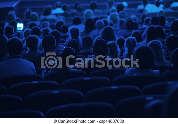Audience in the cinema. Silhouette. - csp14807630