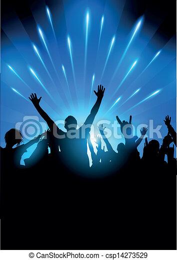 audience, vecteur, concert - csp14273529