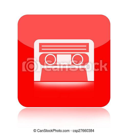 Audio cassette tape icon  - csp27660384