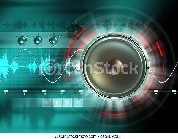 audio digitale - csp2092351
