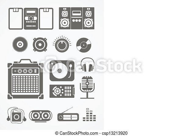 Audio equipment icons collection - csp13213920