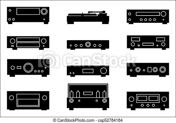 Audio Equipment Vector Icons Symbol Of The Audio Equipment For The