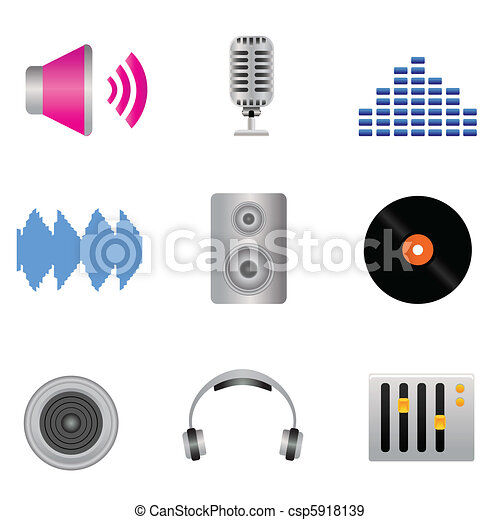 Audio, music and sound icons - csp5918139