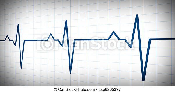 audio or pulse  beat wave simple graph - csp6265397