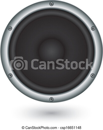 Audio speaker app icon, vector illu - csp16651148