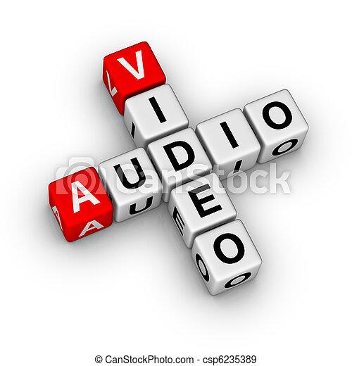 Audio y video - csp6235389