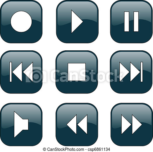 Audio-video control buttons - csp6861134