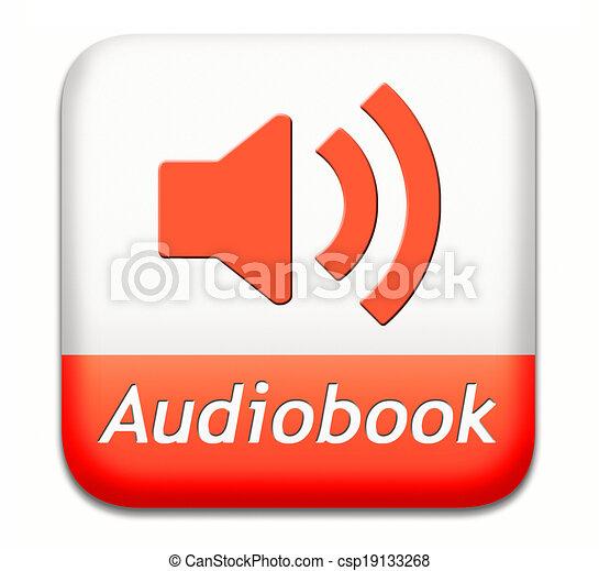 audiobook button - csp19133268