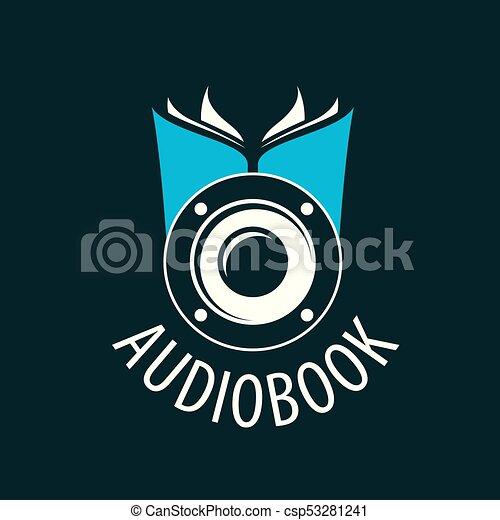 Audiobook. Vector logo template - csp53281241