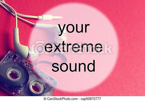audiocassette background sound - csp50870777