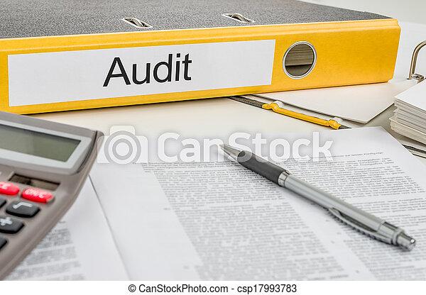 audit, dossier, étiquette - csp17993783