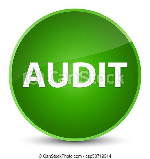 Audit elegant green round button - csp50719314