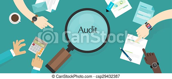 audit financial company tax investigation process business accounting - csp29432387
