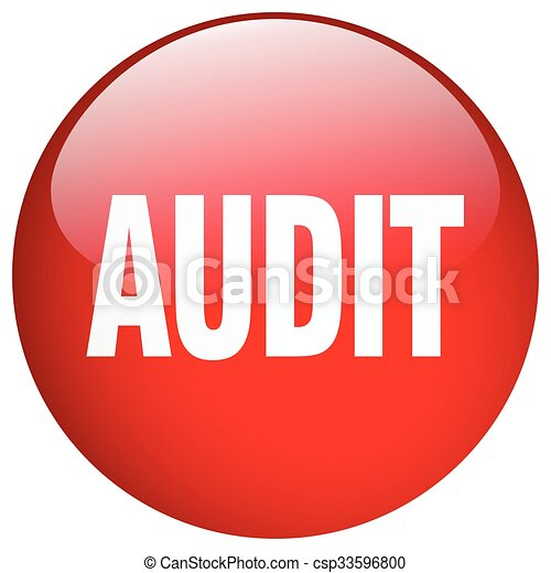 audit red round gel isolated push button - csp33596800