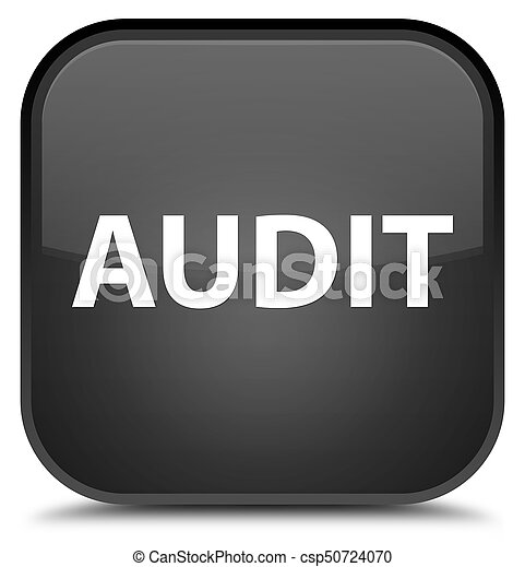 Audit special black square button - csp50724070