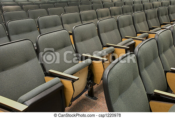 Auditorium seats in a col - csp1220978