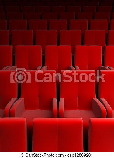 auditorium with red seat - csp12869201