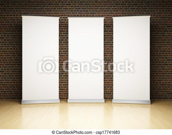 Blankes Banner im Studio - csp17741683