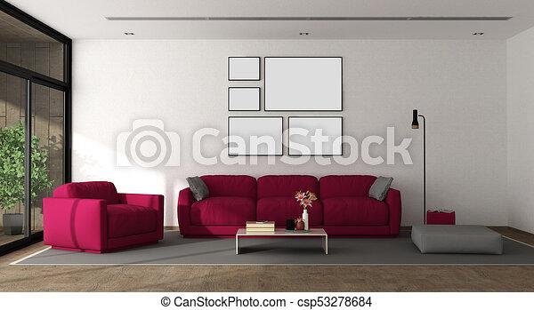aufenthaltsraum, moderne möbel