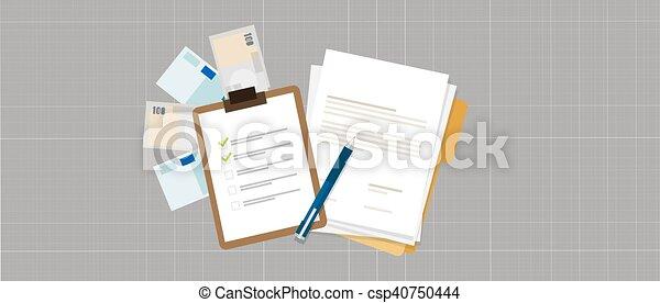 Aufgabe, geld, darlehen, liste, vertrag, vorbereitung, kredit ...