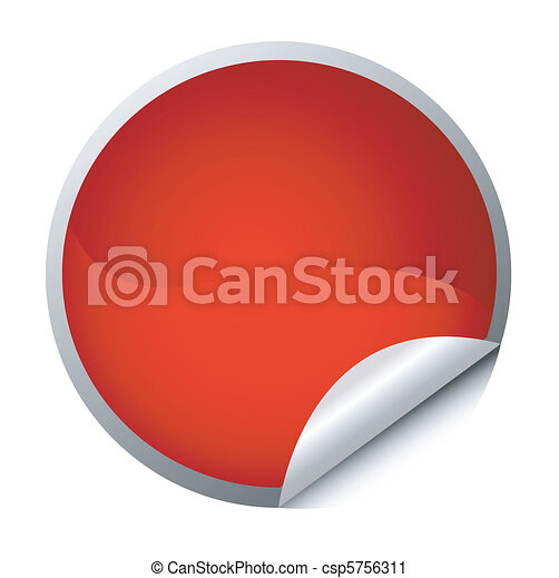 Roter Aufkleber - Posten - csp5756311