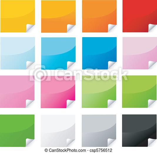 Farbiger Aufkleber , Posten eingestellt - csp5756512