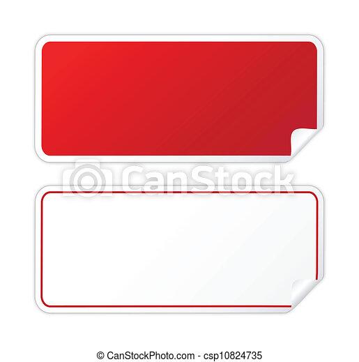 Schwarzer roter Sticker - csp10824735