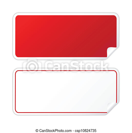 Roter Aufkleber - csp10824735