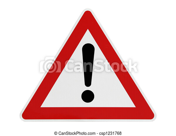 Achtung, Straßenschild - csp1231768