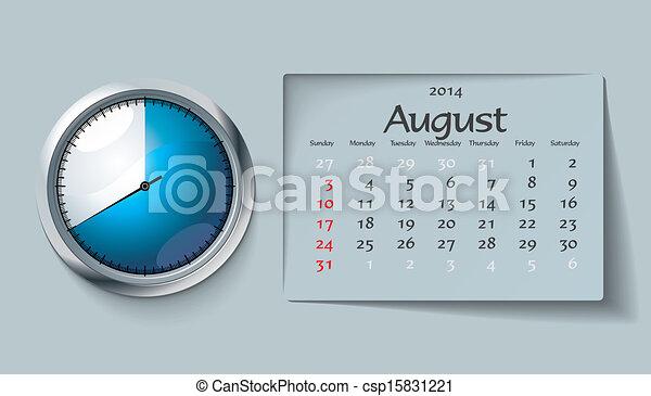 august 2014 - calendar - csp15831221