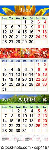 august bilder juni kalender 2017 juli gef rbt. Black Bedroom Furniture Sets. Home Design Ideas