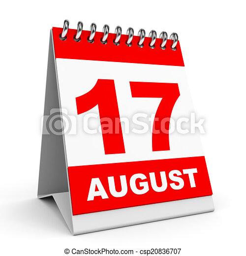 Calendario. 17 de agosto. - csp20836707