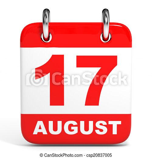 Calendario. 17 de agosto. - csp20837005