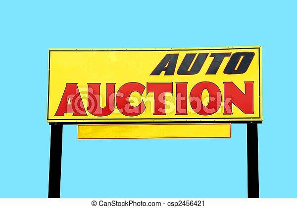 auktion, bil, underteckna - csp2456421