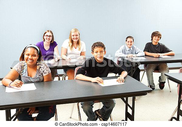aula, diverso, copyspace - csp14607117