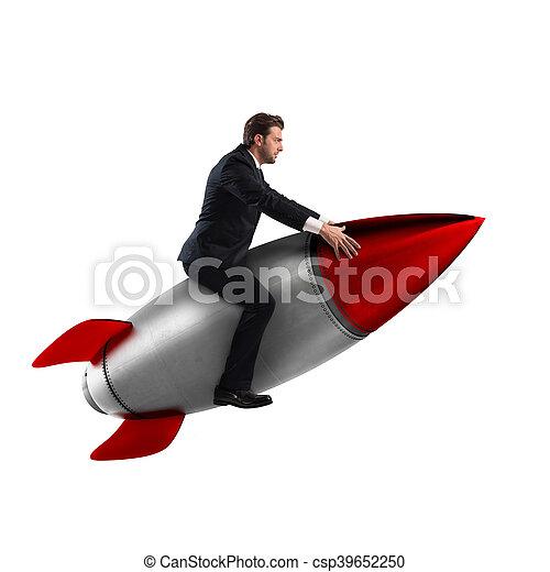 aumento, interpretazione, arrampicarsi, successo, 3d - csp39652250