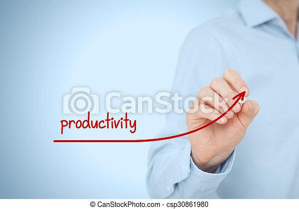 aumento, produtividade - csp30861980